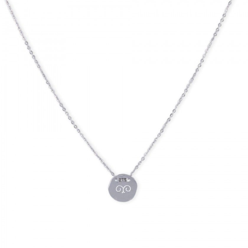 Stainless steel balance silver necklace