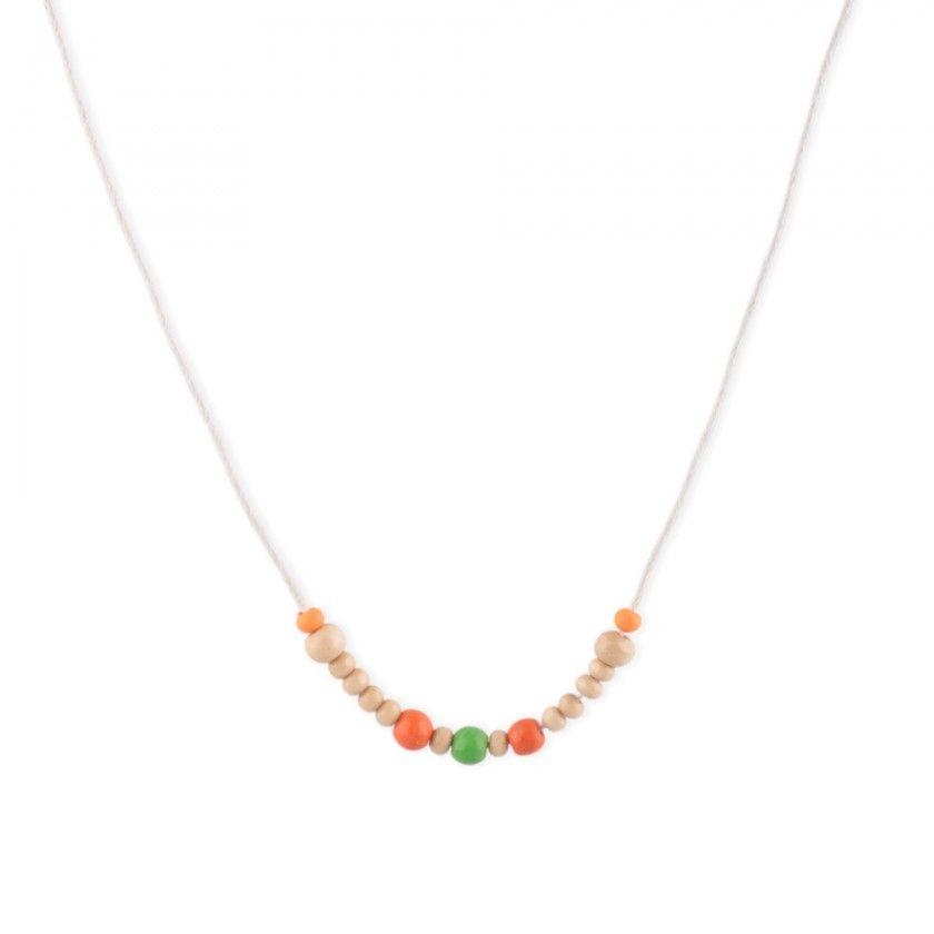 Colar mini mmi beads coloridas