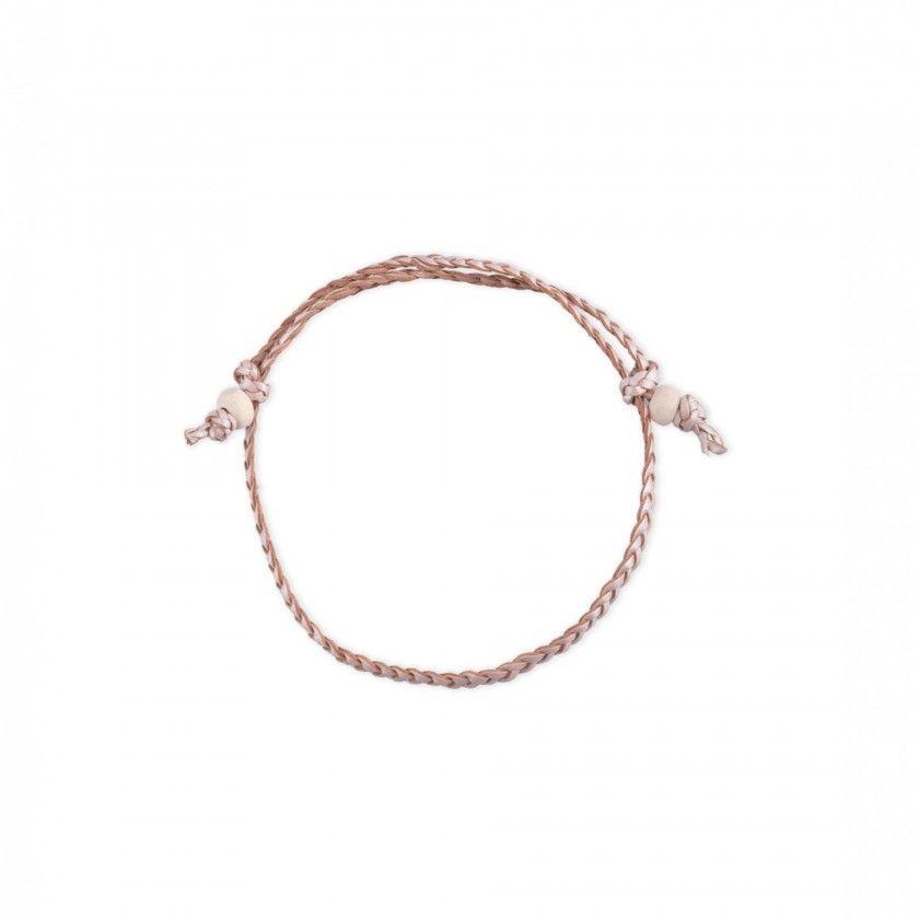 Interlaced leather bracelet