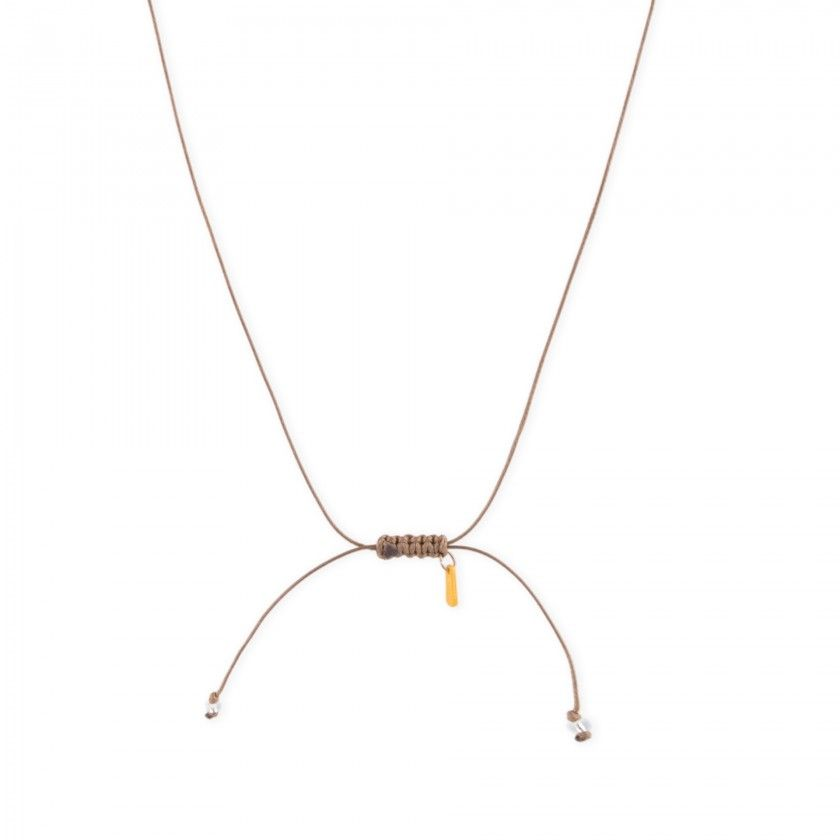 Cloud cord necklace