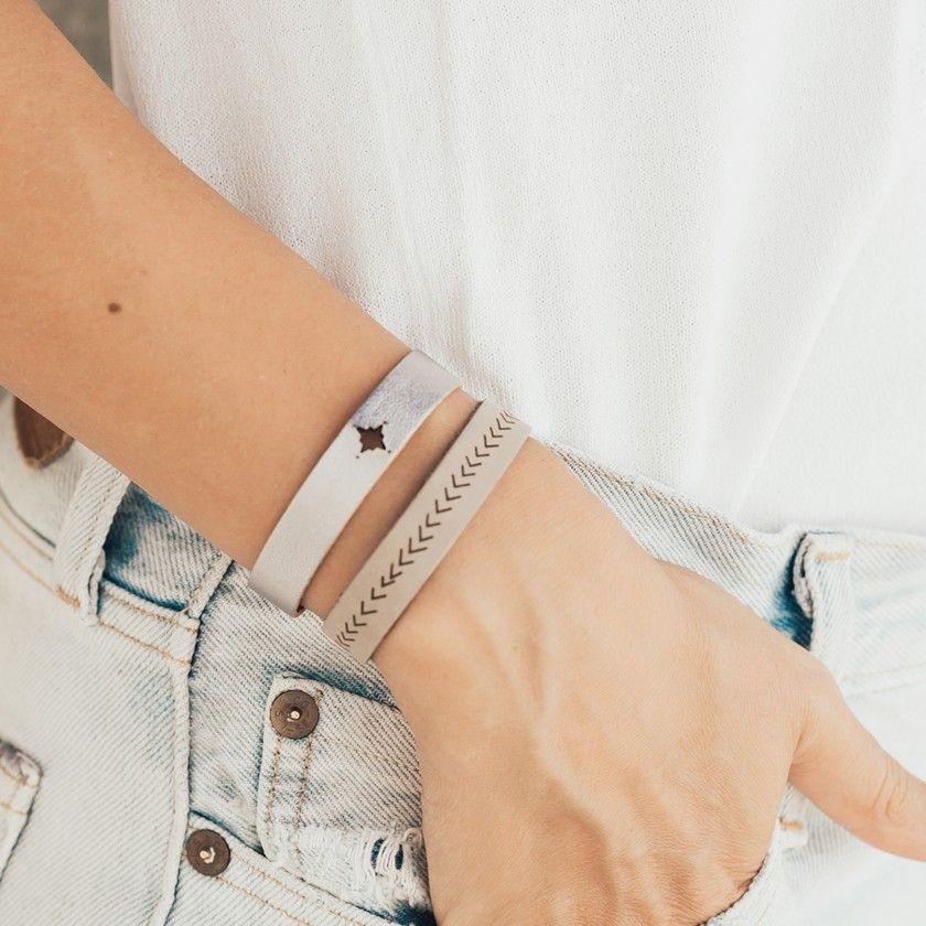 Arrows leather bracelet