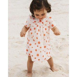 Baby dress organic cotton Pool Dots