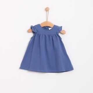 Piquet frill dress