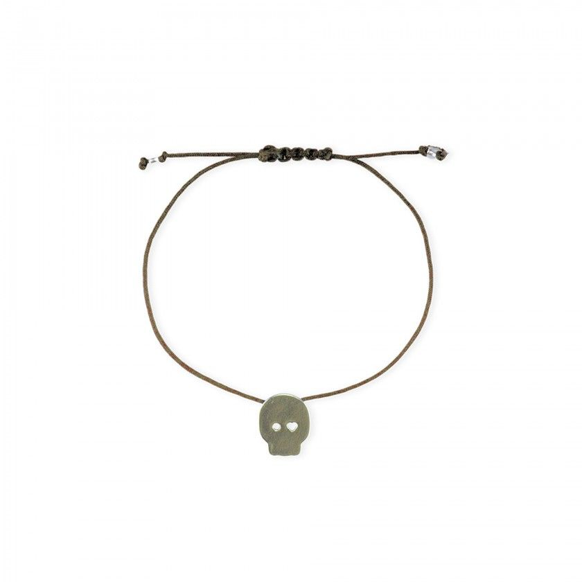 Skull cord bracelet