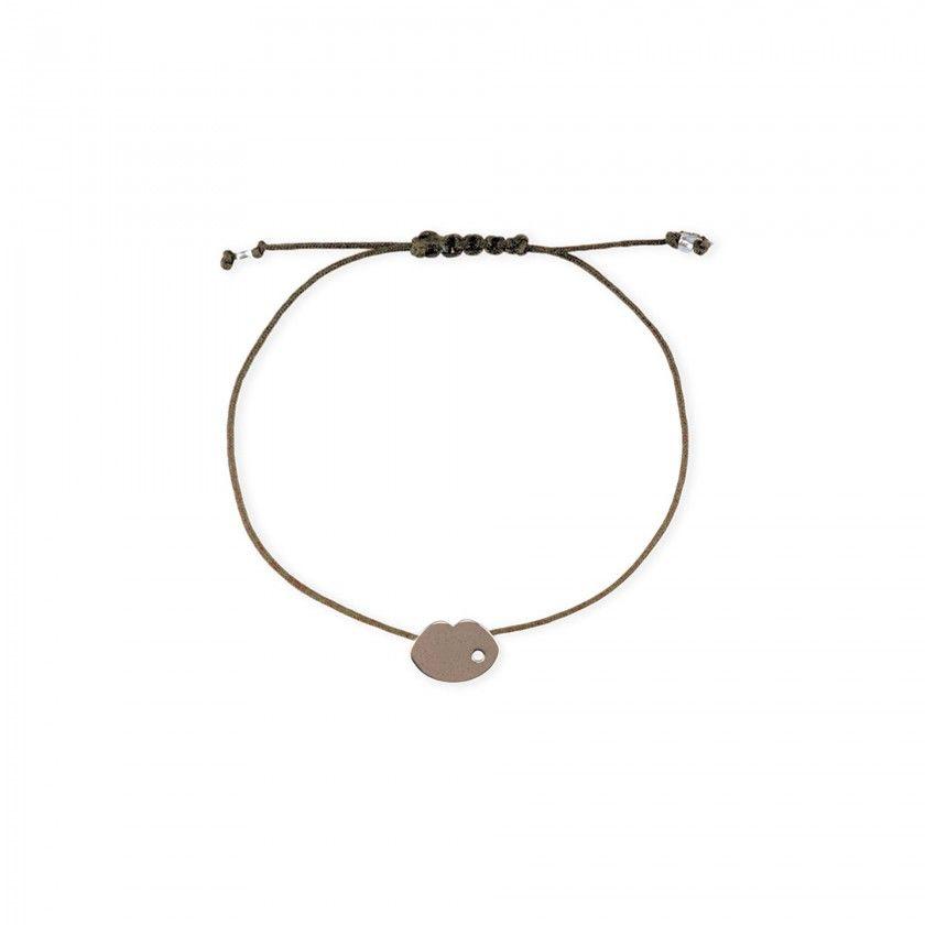 Lips cord bracelet