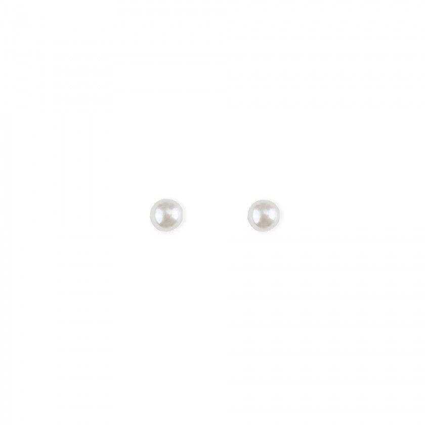 Pearl brass earrings