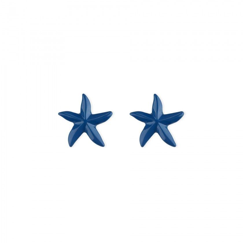 Brass starfish earrings