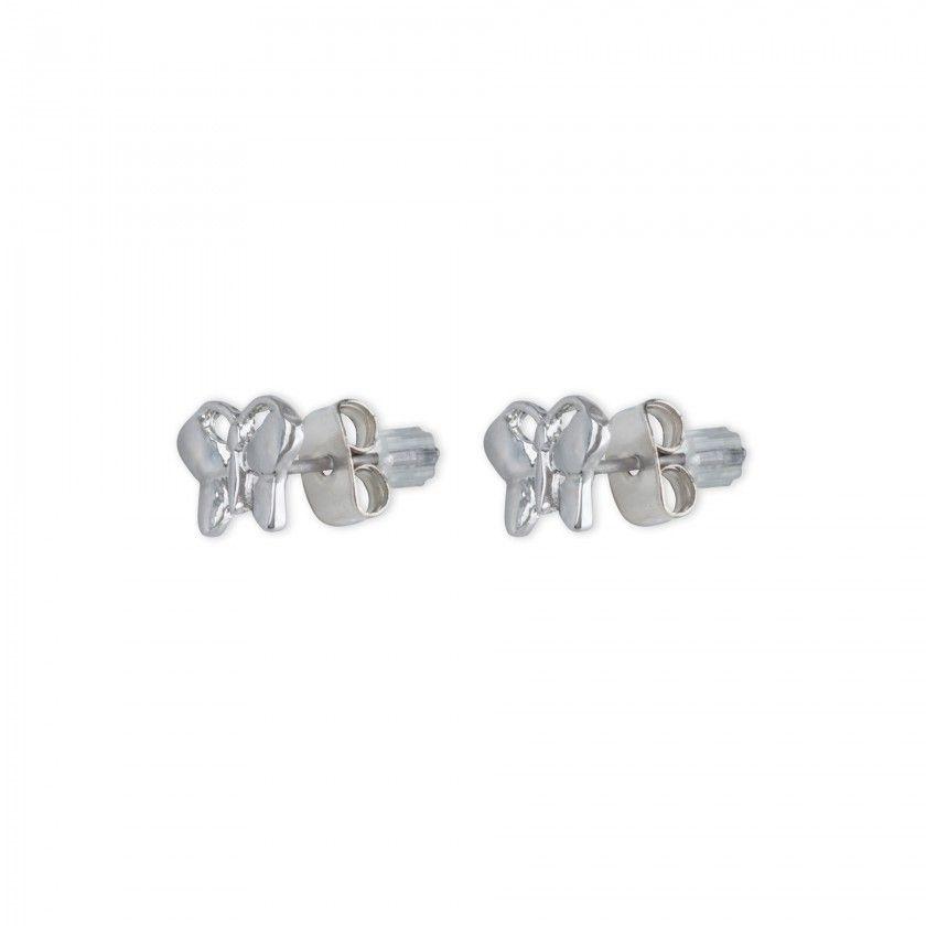 Butterfly brass earrings