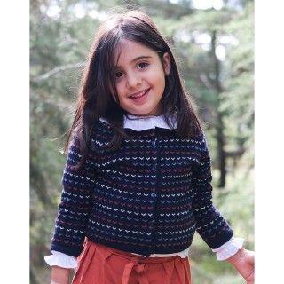 Casaco menina tricot Yokina
