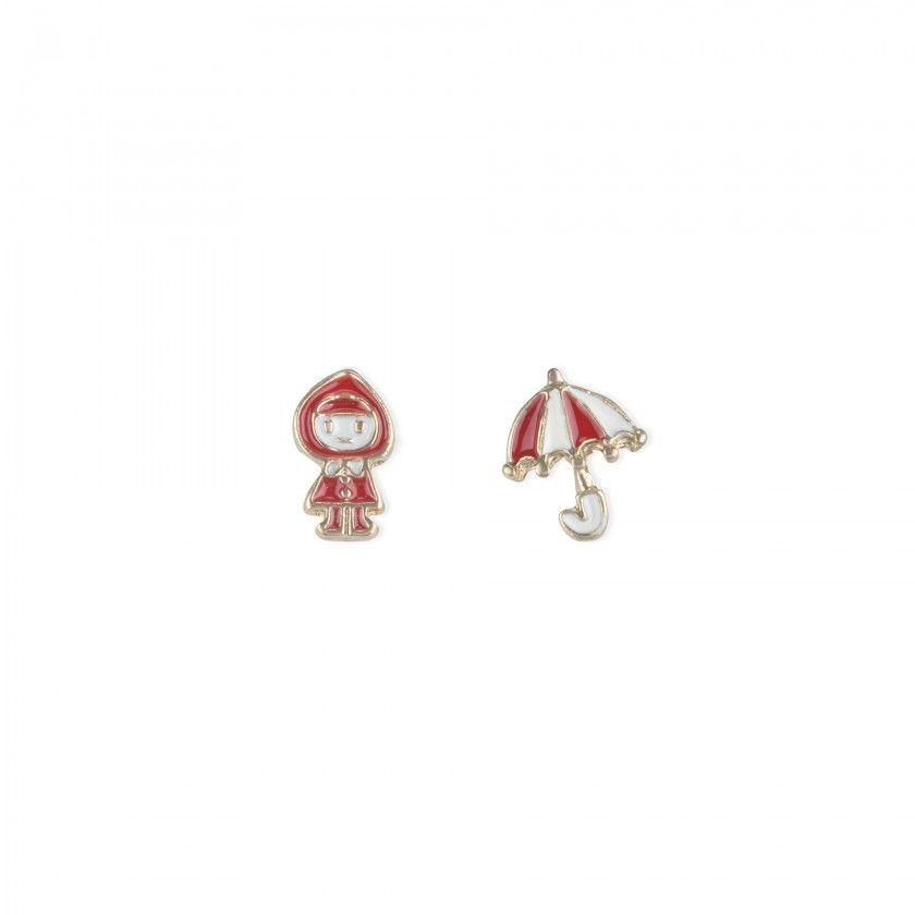 Girl and umbrella earrings