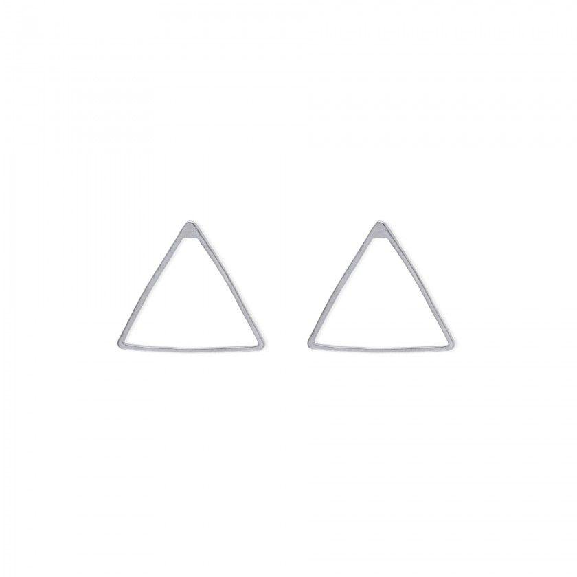 Brincos triângulo prateado