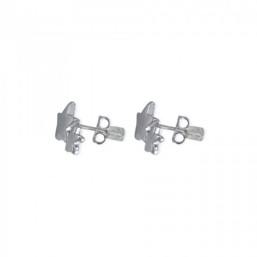 Stars brass earrings