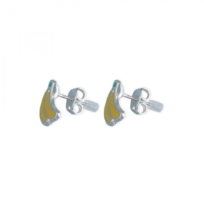 Bananas brass earrings