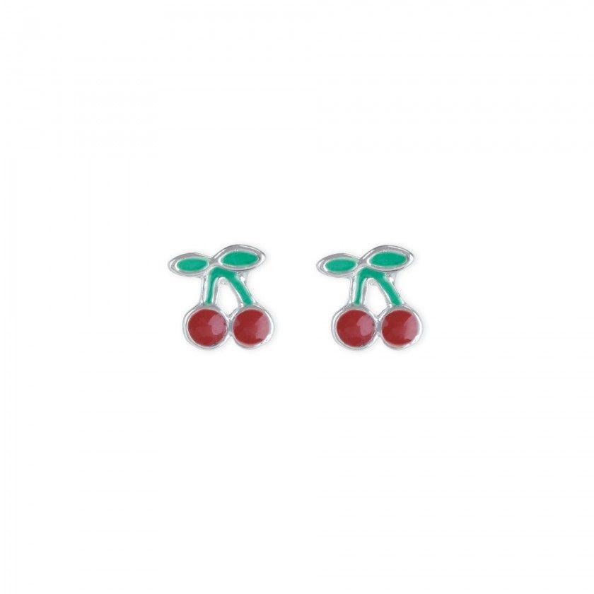 Brass cherries earrings