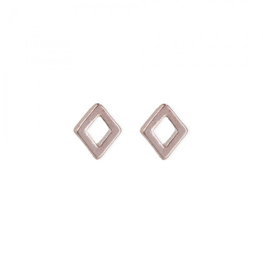 Golden rose diamond brass earrings