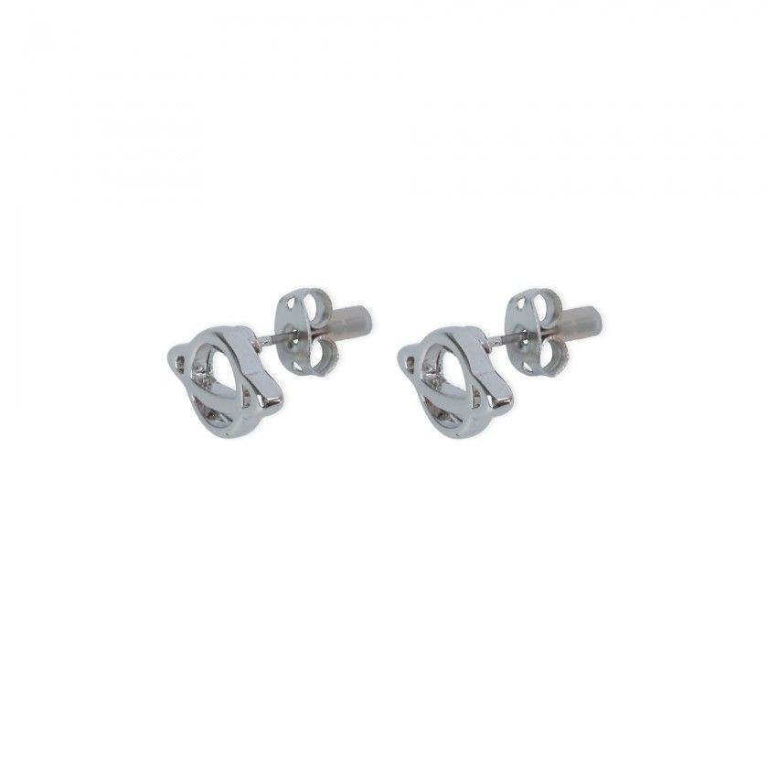Brass saturn planet earrings