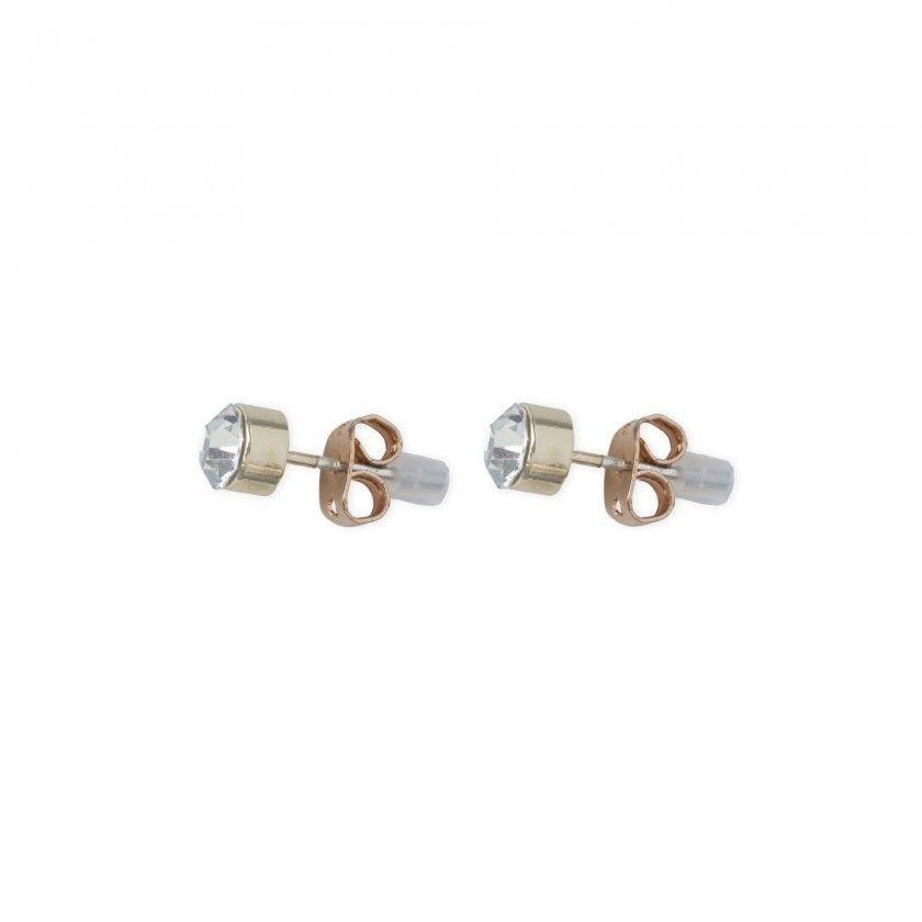Golden shiny brass earrings