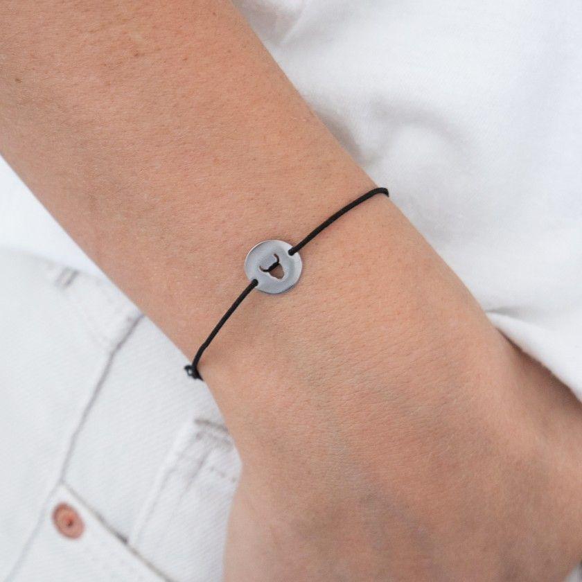 Taurus steel and elastic bracelet