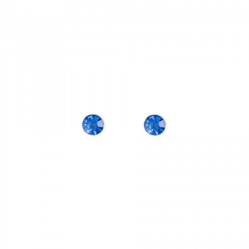 Brincos brilhante azul