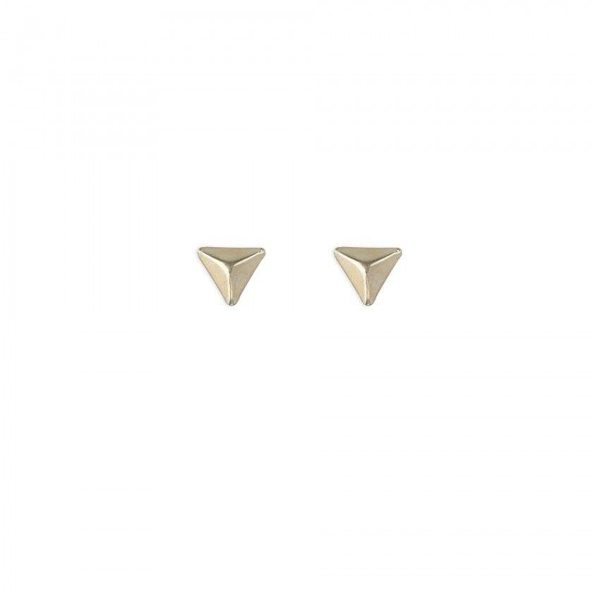 Brincos triângulo pico dourado