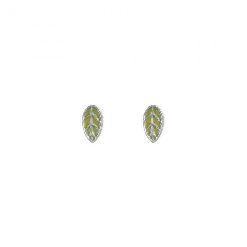 Brincos folha verde