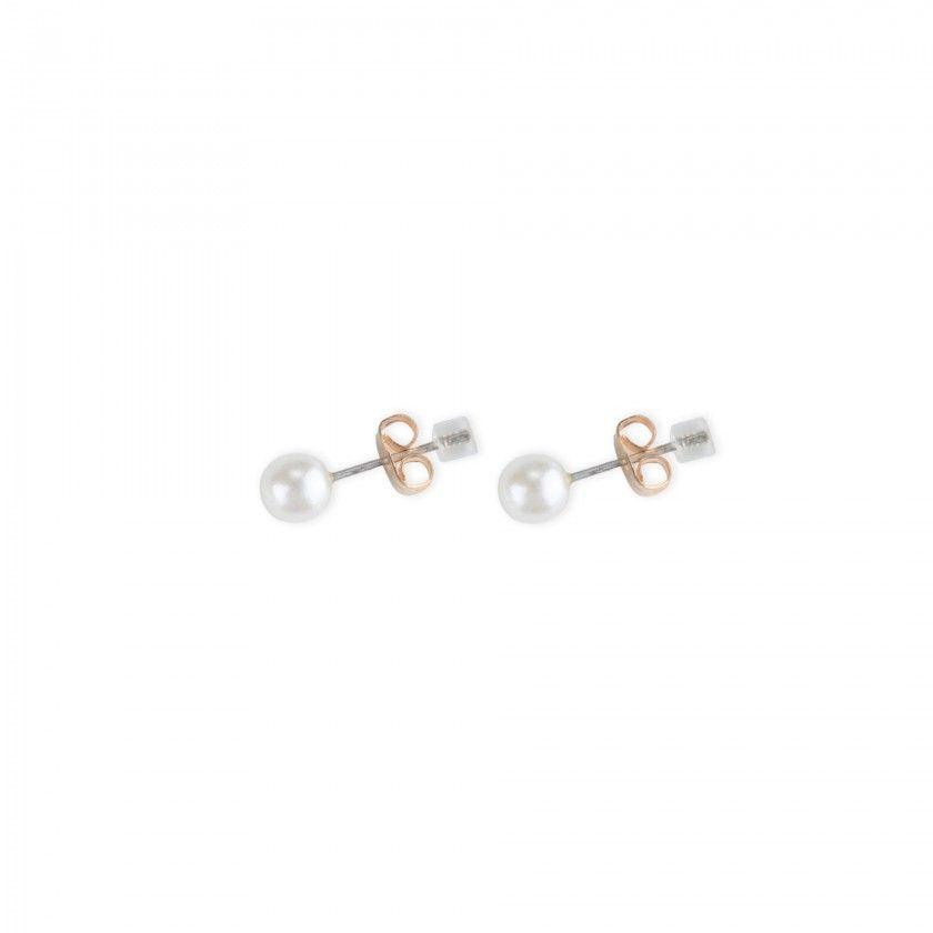 Brass pearl earrings