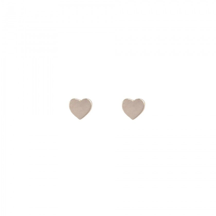 Brincos coração dourado