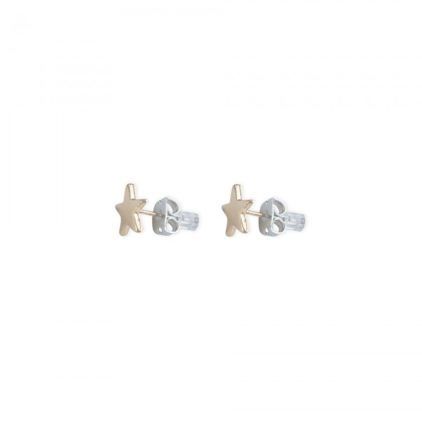 Golden star brass earrings