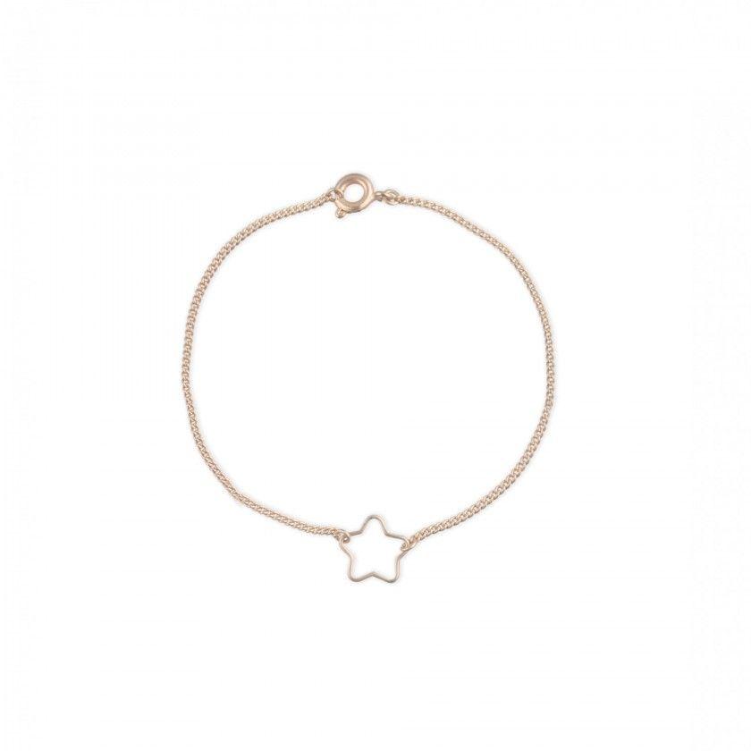 Golden star brass bracelet