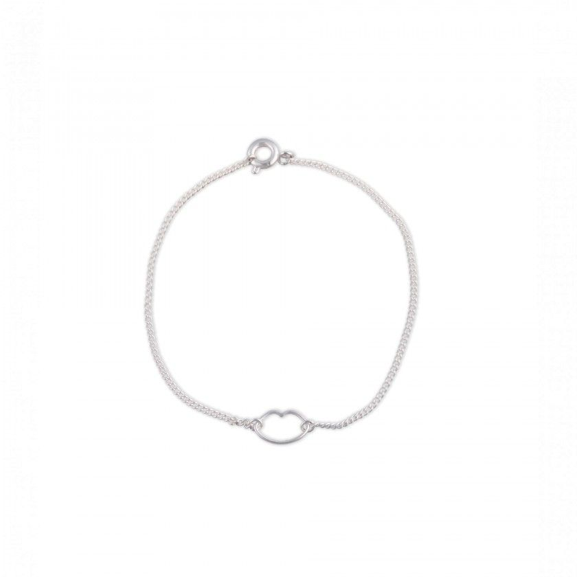 Brass lips bracelet
