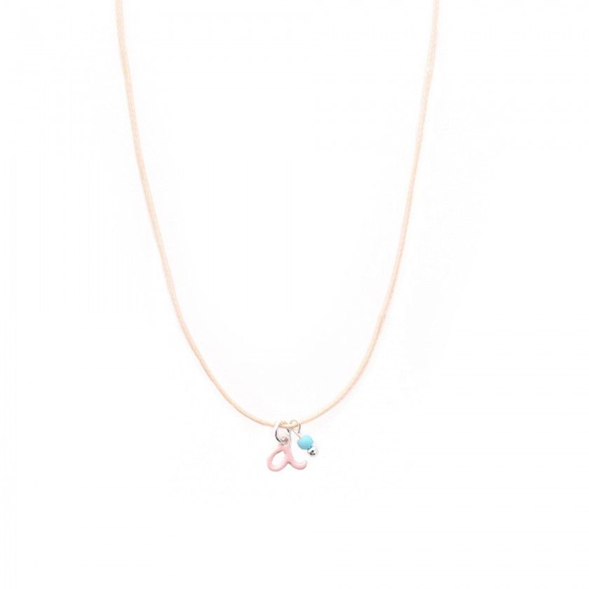 Letter cord necklace - a