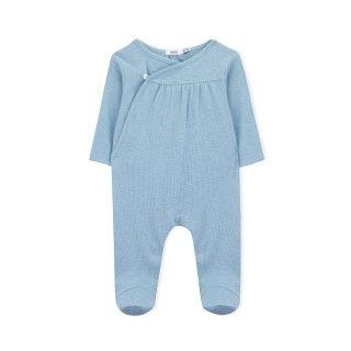 Babygrow recém-nascido algodão orgânico Botão