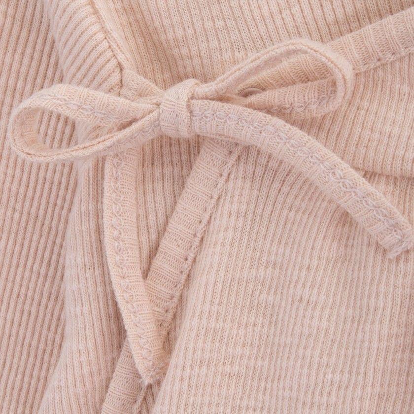 Babygrow recém-nascido algodão orgânico Laço