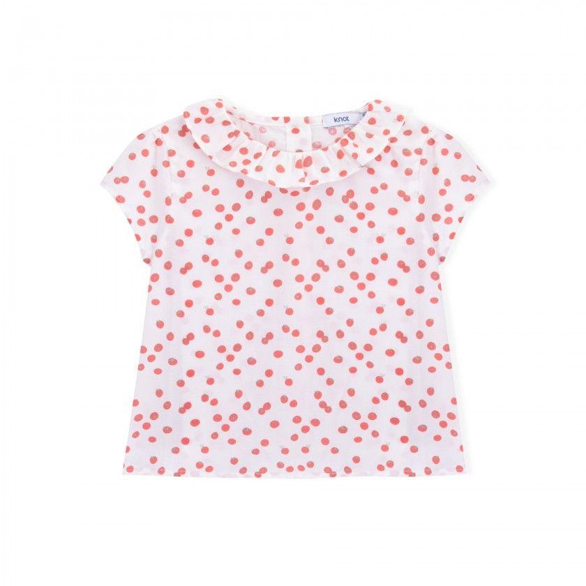 Baby blouse cotton Cherry Tomato