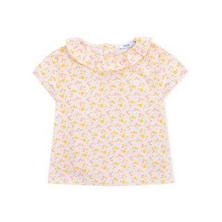 Blusa bebé algodão orgânico Flower Power