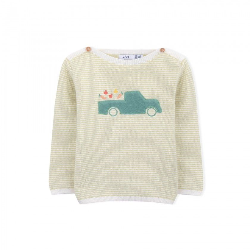 Camisola bebé tricot Truck