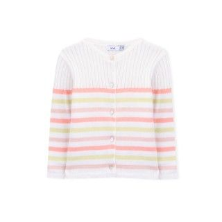 Casaco bebé tricot Love Stripes