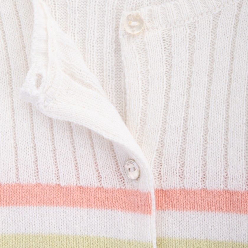 Casaco bebé tricot Love Stripes