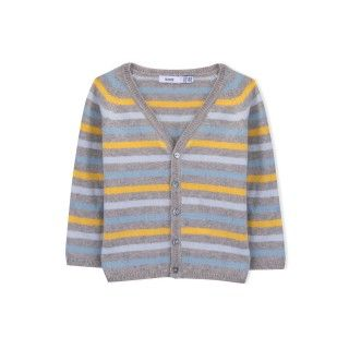 Casaco bebé tricot Evolution Stripes