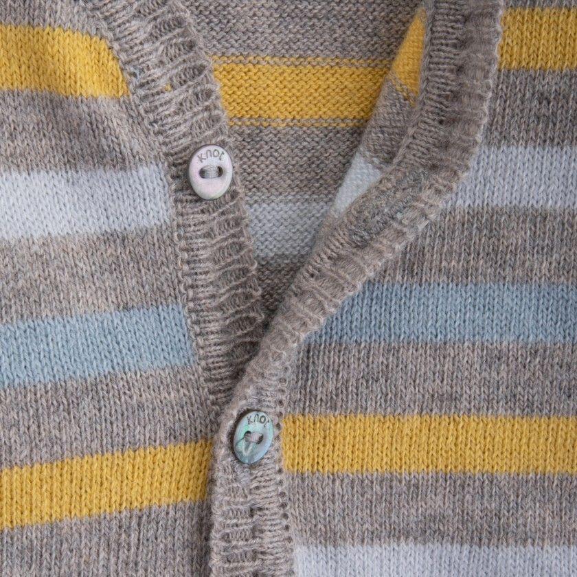 Casaco bebé tricot Evolution Stripes