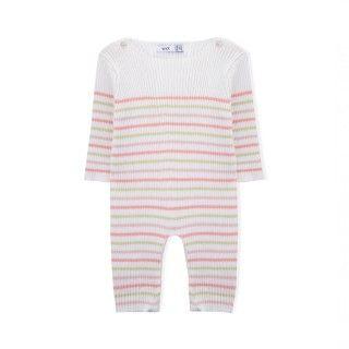Macacão recém-nascido tricot Love Stripes