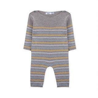 Macacão recém-nascido tricot Evolution Stripes