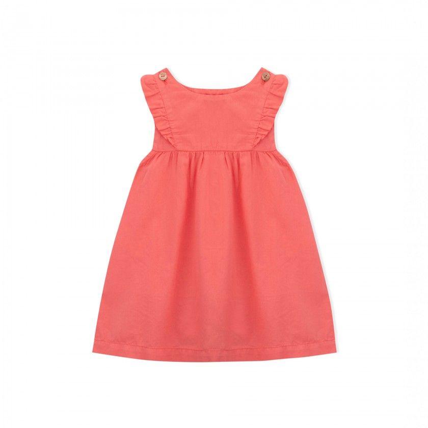 Baby pinafore dress organic cotton Amber