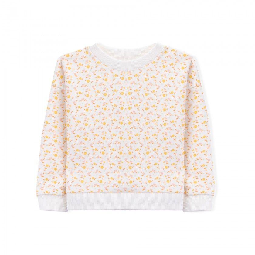 Sweatshirt menina algodão orgânico Cathy