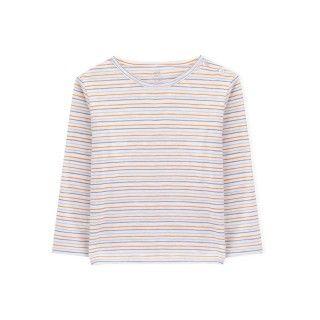 T-shirt manga comprida bebé algodão orgânico Pequeno bolso