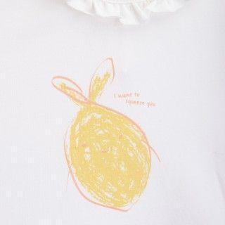 T-shirt manga curta bebé algodão orgânico Lemon squeeze