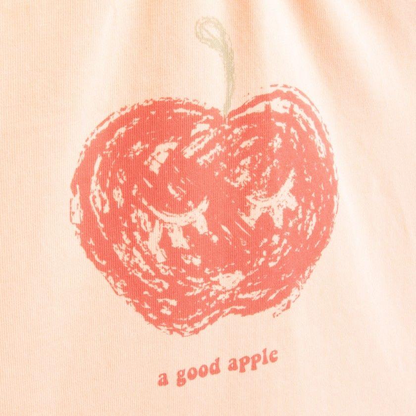 T-shirt manga curta bebé algodão orgânico Maçã vermelha