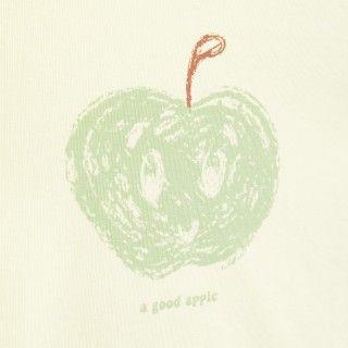 T-shirt manga curta bebé algodão orgânico Maçã verde