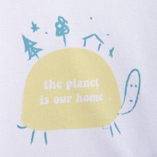 T-shirt manga curta bebé algodão orgânico Tartaruga do mundo