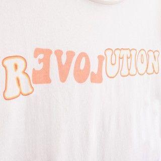 T-shirt manga curta menina algodão orgânico R(evol)ution